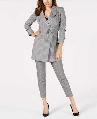 GUESS Angelique Plaid Blazer Dress