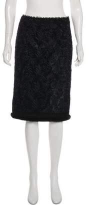 Andrew Gn Mink-Trimmed Knee-Length Skirt