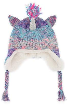 Capelli New York Unicorn Earflap Hat with Faux Fur Lining