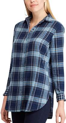 Chaps Women's Print Relaxed Shirt