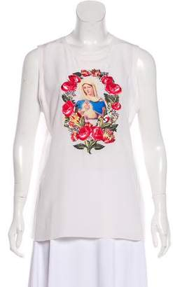 Dolce & Gabbana Embroidered Silk Top w/ Tags