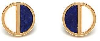 Lola Rose Garbo Divided Circle Lapis Lazuli Earrings