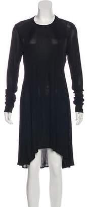 Alexander Wang Long Sleeve Ribbed Dress