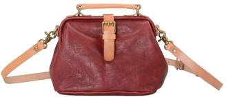 EAZO - Flap Over Cross Body Leather Bag in Red