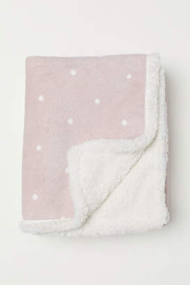 H&M Patterned Fleece Throw - Pink