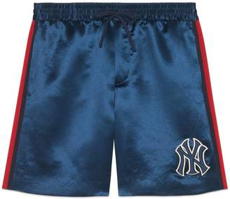 Gucci Acetate shorts with NY YankeesTM patch
