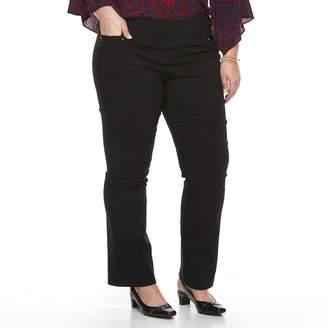 Dana Buchman Plus Size Pull-On Baby Bootcut Pants