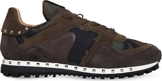 Valentino Rockstud studded camo suede trainers