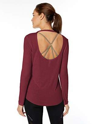 Core 10 Amazon Brand Standard Women's Blend LS Open Back