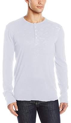ATM Anthony Thomas Melillo Men's Destroyed Wash Henley Shirt