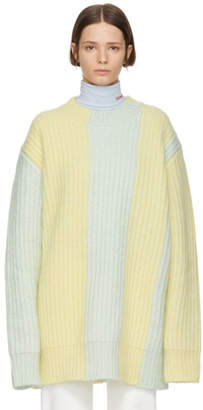Calvin Klein Yellow and Green Oversized Sweater