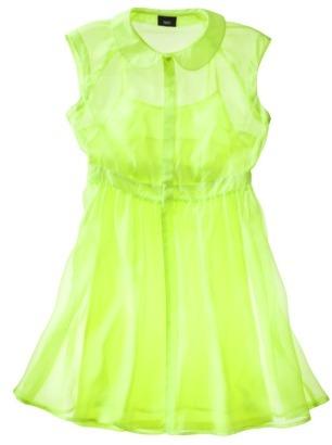 Mossimo Women's Sleeveless Sheer Shirt Dress -Superb Yellow