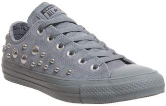 ba13a016ea47 Converse Low Leather Trainers Cool Grey Multi Stud Exclusive