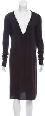 Rick Owens Lilies Long Sleeve Midi Dress