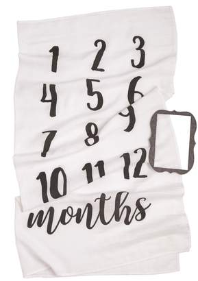 Mud Pie Motherhood Maternity Monthly Milestone Blanket
