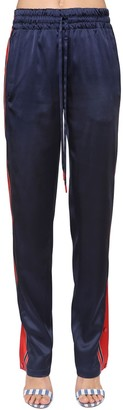 Monse Satin Track Pants W/ Snap Buttons