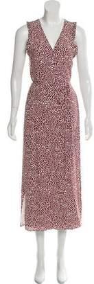 Anine Bing Silk Wrap Dress