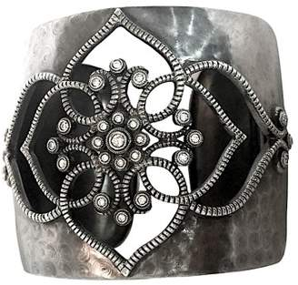 Leslie Greene Sterling Silver and Diamond Cuff Bracelet