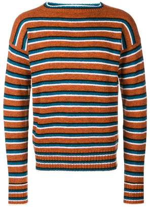 Prada striped long-sleeve jumper
