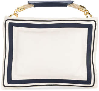 Sacai contrast border clutch bag