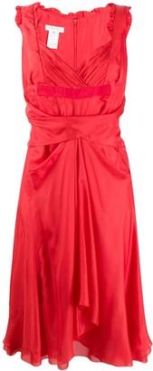 Celine Pre-Owned sweetheart neck dress