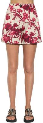 Antonio Marras Printed Cotton Blend Shorts