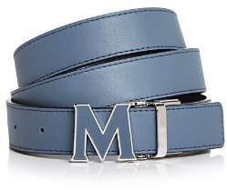 MCM Enamel Logo Buckle Leather Belt