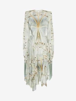 Alexander McQueen Glass Wing Midi Dress