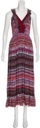 Saloni Pleated Maxi Dress