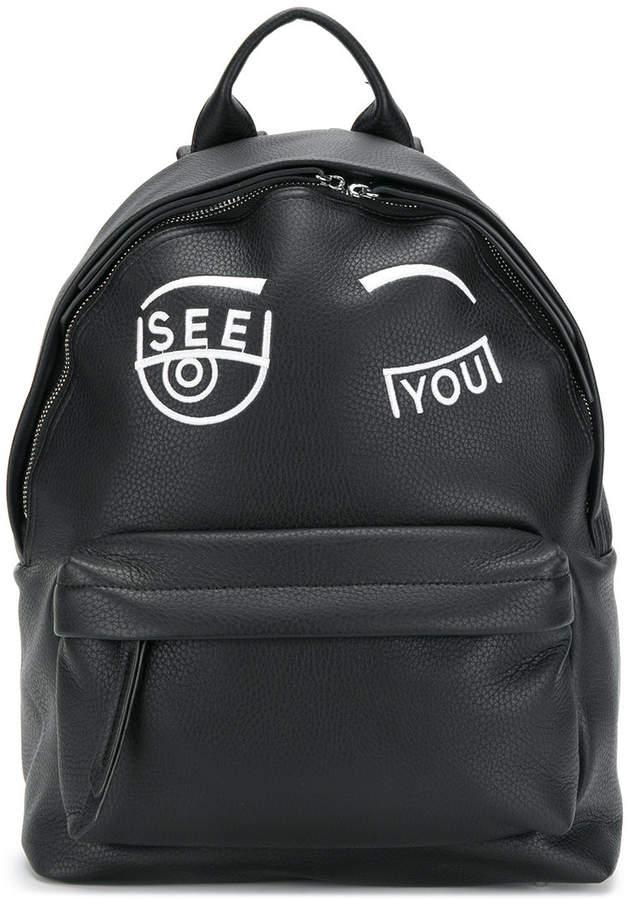 Chiara Ferragni See You embroidered backpack