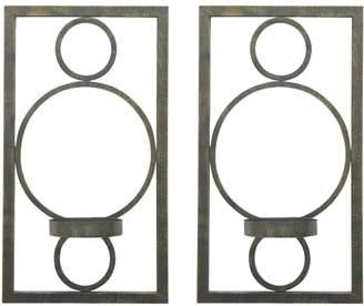 Three Hands Geometric Candleholders (Set of 2)
