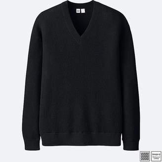 Uniqlo Men's U Wool V-Neck Long-sleeve Sweater