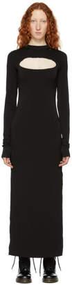 Marc Jacobs Black Redux Grunge Cut-Out Long Dress
