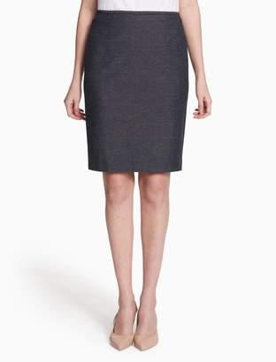 Calvin Klein linen stretch straight skirt