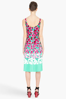 Marc Jacobs mint and fuchsia carnation Dress