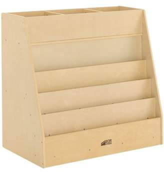 ECR4Kids Birch Display and Store Mobile Book Cart