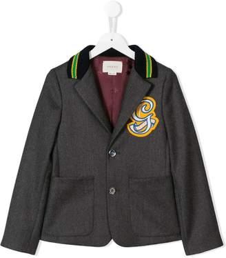 Gucci Kids logo patch blazer