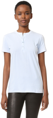 Helmut Lang Henley Tee $160 thestylecure.com