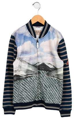 Scotch Shrunk Boys' Printed Zip-Up Sweatshirt
