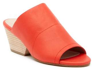 Eileen Fisher Juju Peep Toe Leather Mule