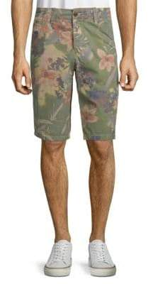 Jet Lag Floral-Print Cotton Shorts