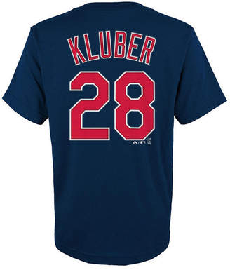 Majestic Corey Kluber Cleveland Indians Official Player T-Shirt, Big Boys (8-20)