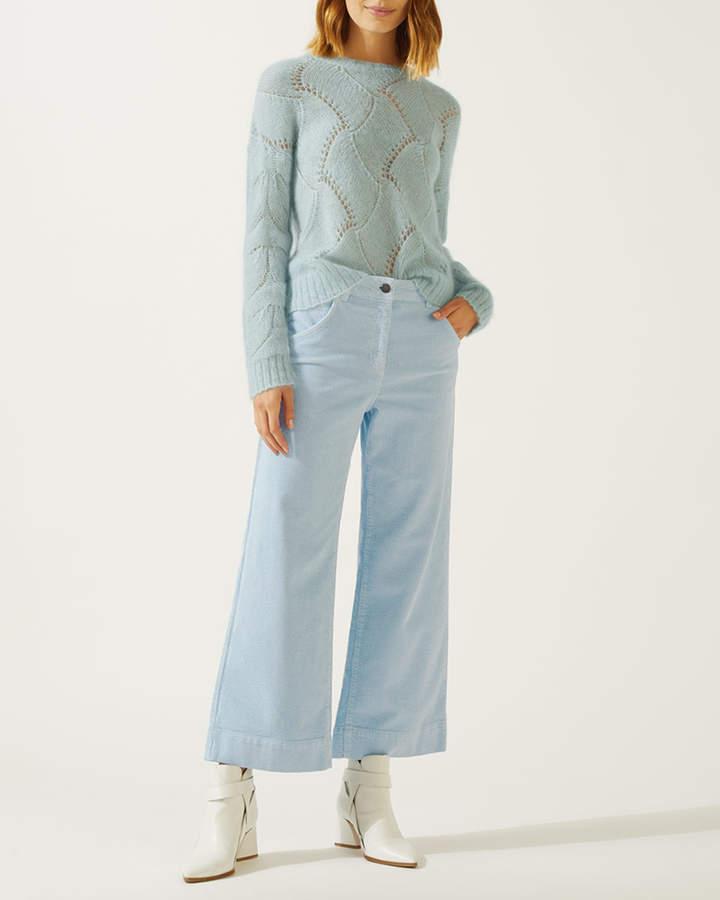 Hoxton Crop Flare Cord Jean