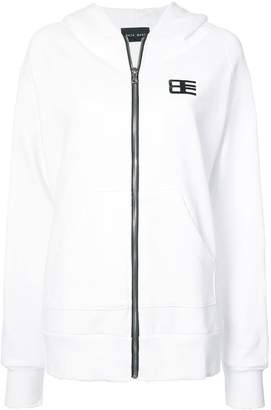 Baja East zipped logo hoodie