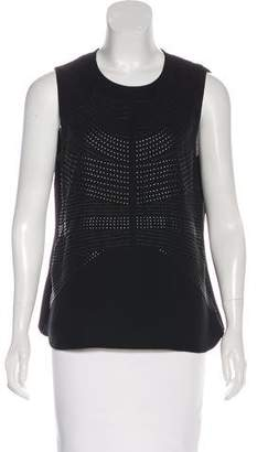A.L.C. Embellished Sleeveless Silk Top