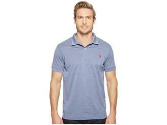 U.S. Polo Assn. Polyester Heather Pique Polo Shirt Men's Clothing
