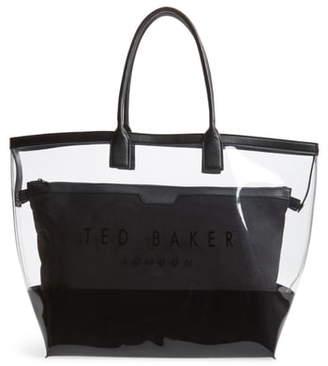 Ted Baker Dorrys Clearn Canvas Pouch Shopper