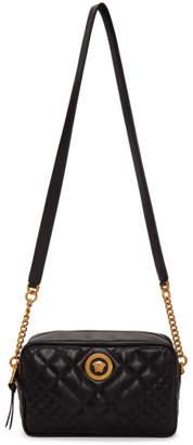 Versace Black Quilted Medusa Tribute Camera Bag