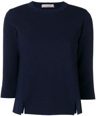 D-Exterior D.Exterior side slit cropped sleeve sweater