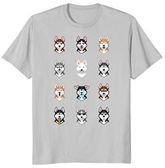 Funny Siberian Husky Emoji T-Shirt